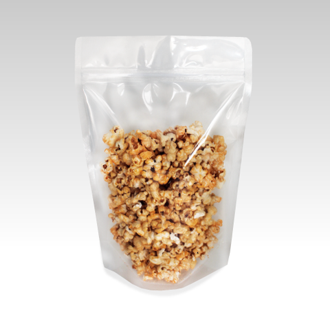 Recyclable Stand Up Pouch with Zipper Closure- Clear.
