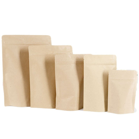 stand up pouch the pouch shop melbourne australia kraft paper bag push to lock zipper various sizes available
