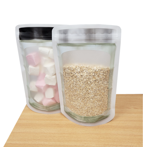 Stand Up Pouch - Square Jar Shaped Packaging