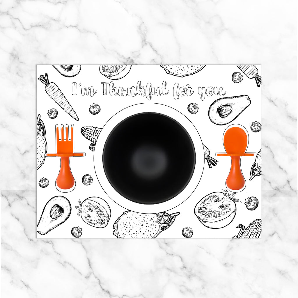 Thanksgiving Coloring Placemats | Free Printable