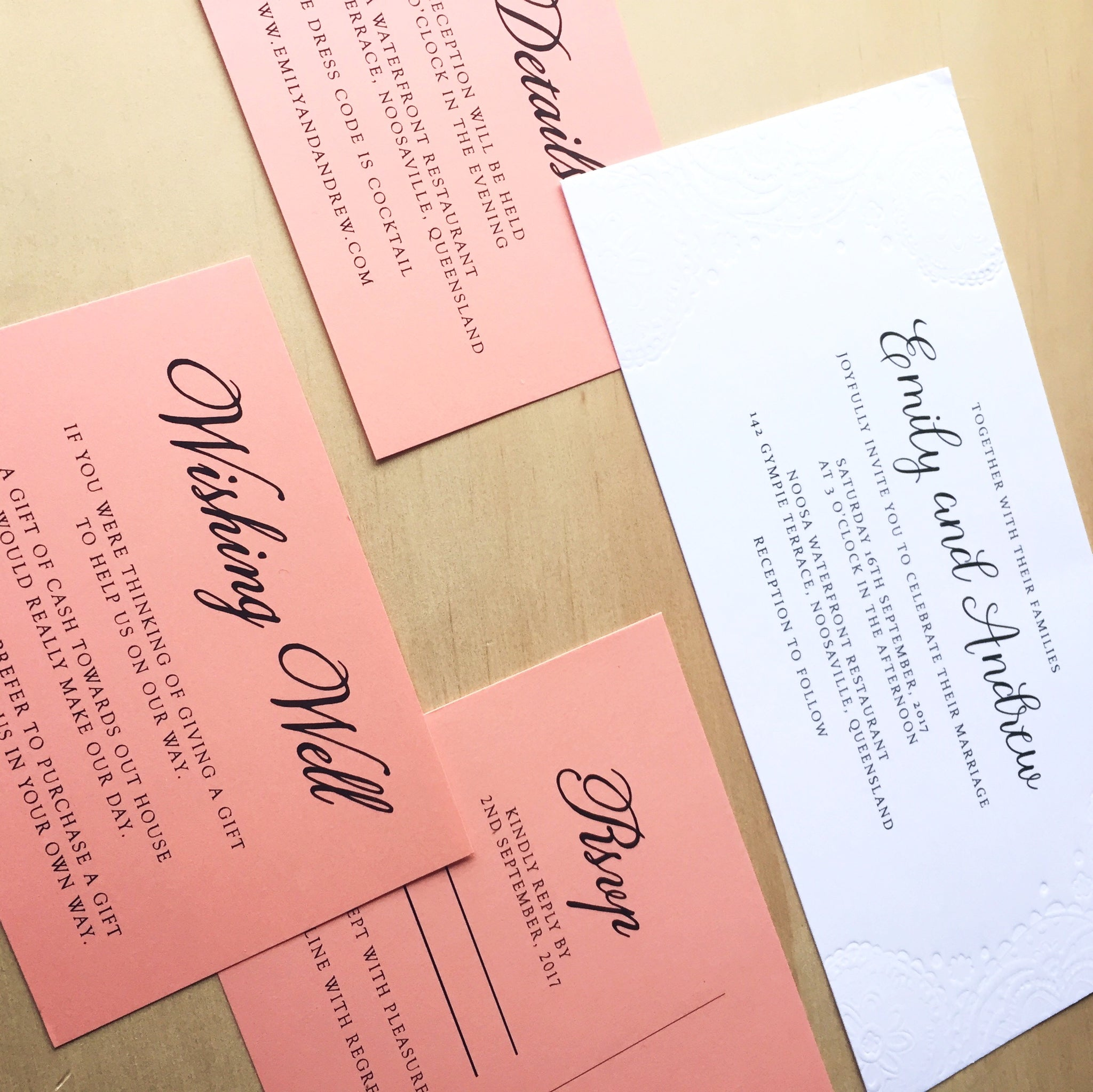 Doily embossed invitation suite: DIY instructions – Paper Bliss