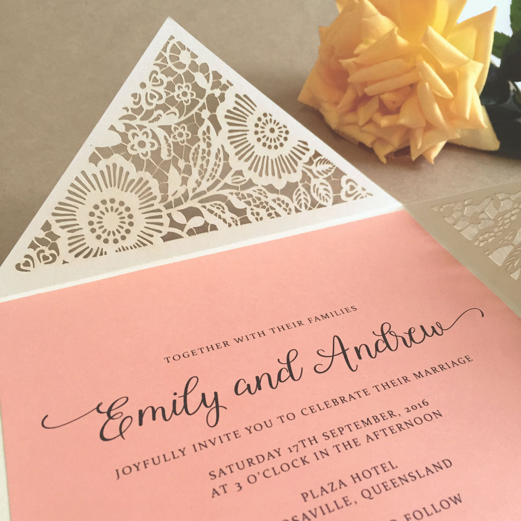 Tutorial & free downloads - laser cut wedding invitations