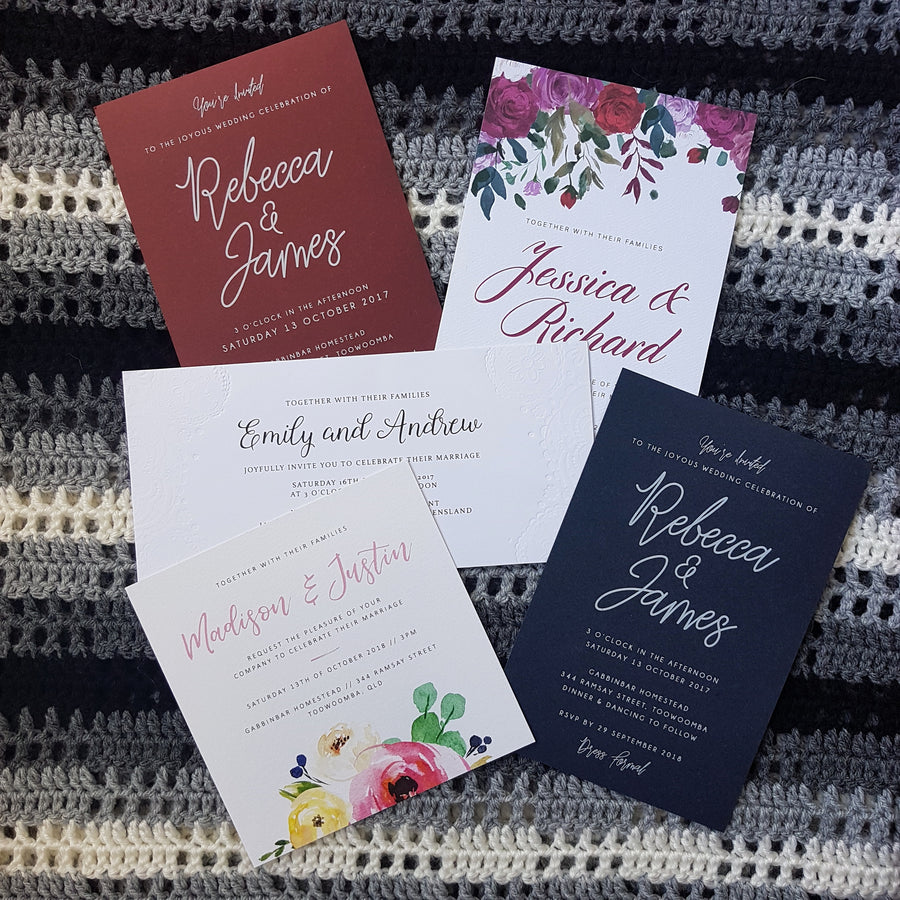 'Print at home' - professional wedding invitations on a budget