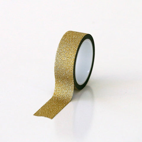 Glitter Tape Gold 15mm x 5mt