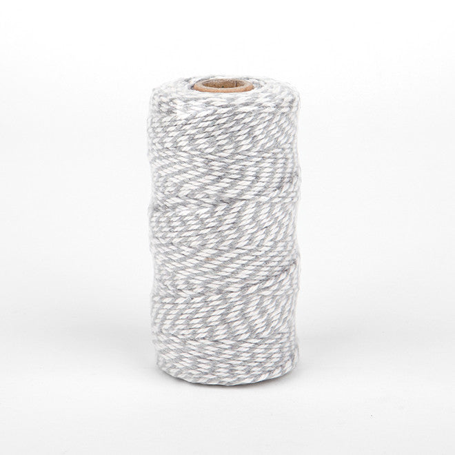 Bakers Twine Thick Grey - 91mt Roll