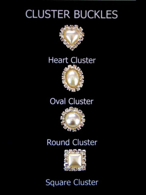 Deluxe Pearl Cluster Buckles Flat Back (5)
