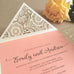Spring Blossom Cream Laser Cut Invitation (10 pack)