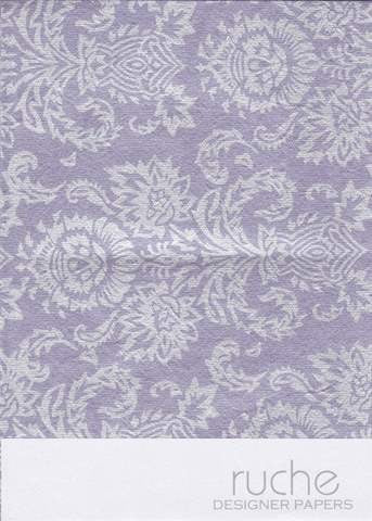 Silver Print on Lavender Purple (5 sheets)