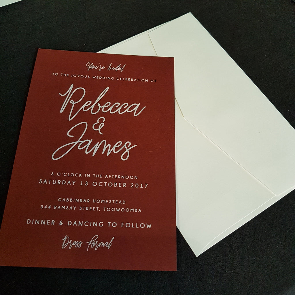 Loveline Invitation Suite – Paper Bliss