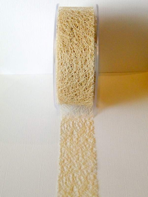Mesh Ribbon, Sand, 38mm