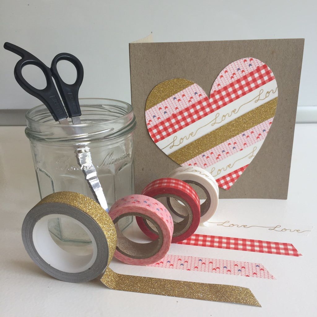 DIY Valentine's Card Kit - Gold Love