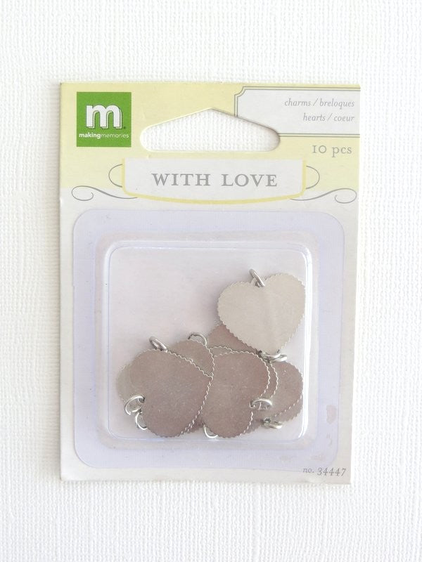 Love Heart Charms (10 pack)