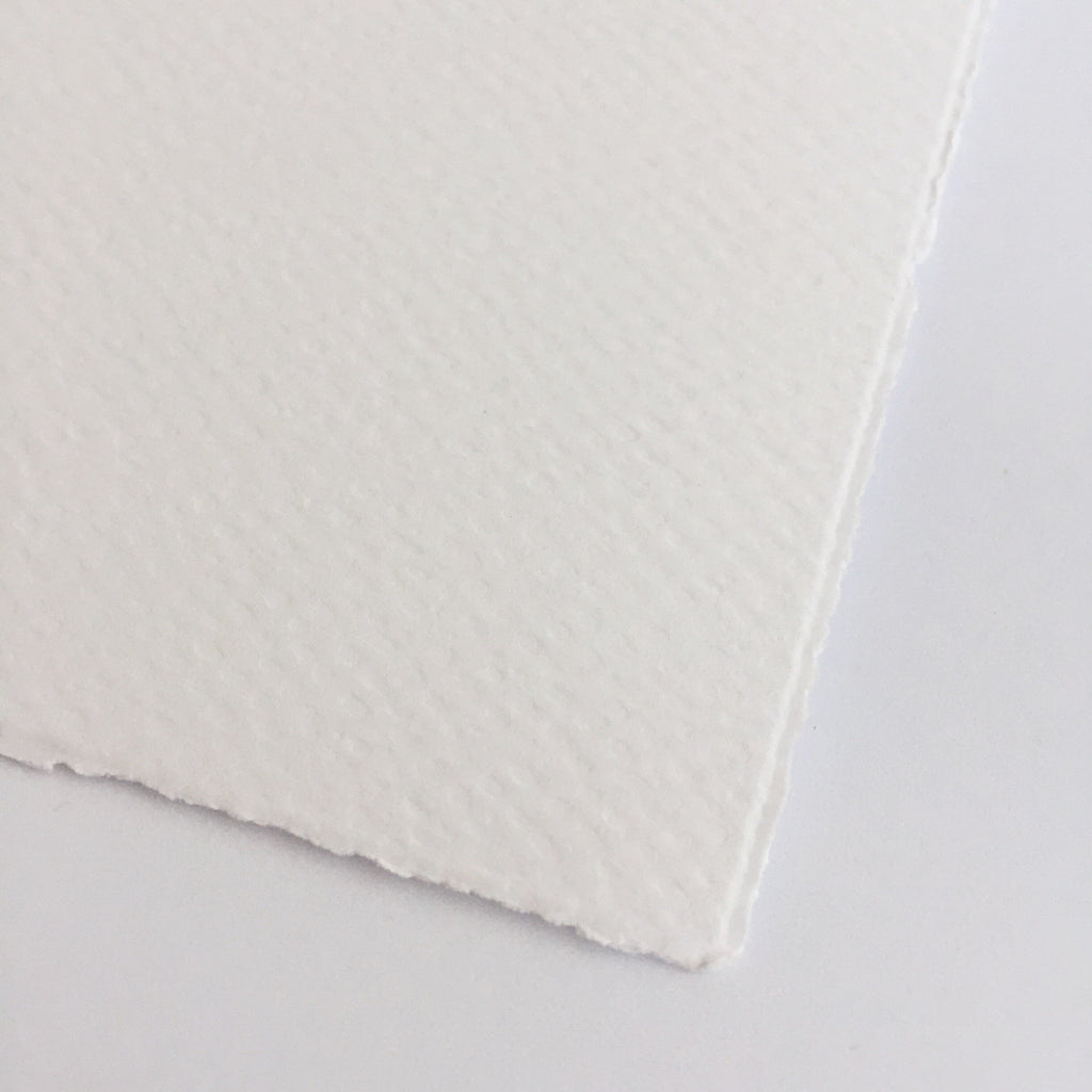 Medioevalis White Deckled Edge Card & Envelope (10 pack)