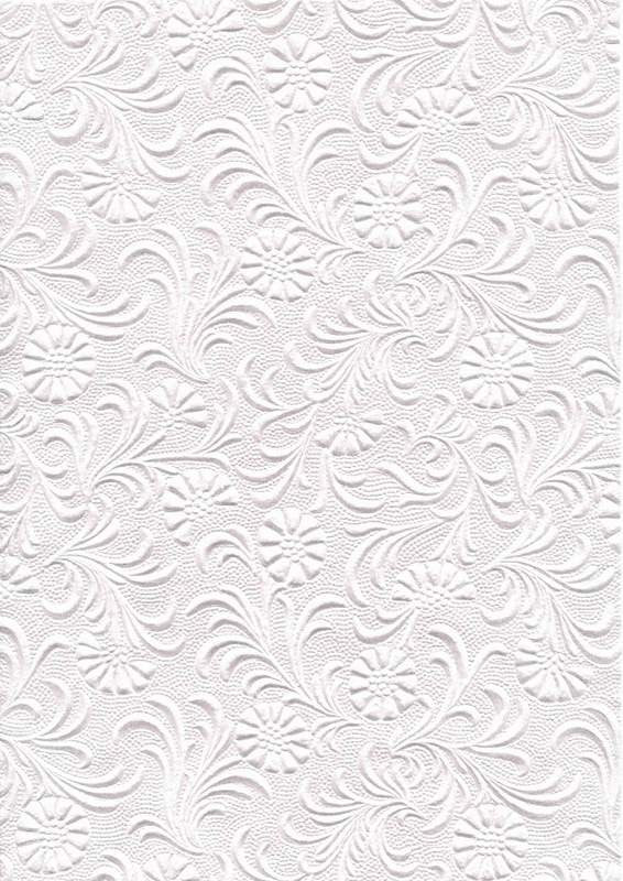 Embossed Pearl White