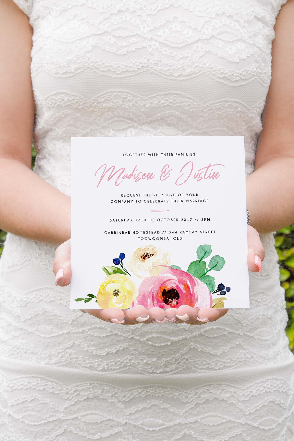 Spring Wedding Invitation