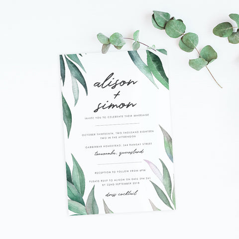 Eucalyptus Invitation Suite - Paper Bliss