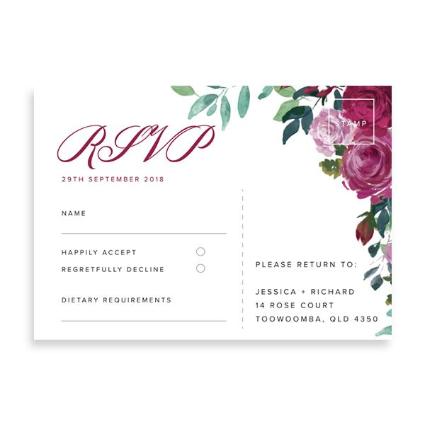 50 RSVP Cards - $112.50 - Paper Bliss