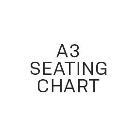 Seating Chart - Large (A3) - $50.00 - Paper Bliss