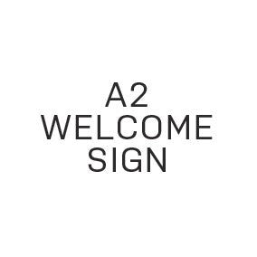 Reception Welcome Sign - Extra Large (A2) - $40.00 - Paper Bliss