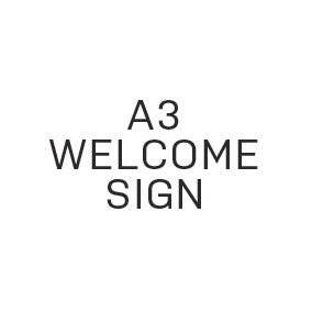Reception Welcome Sign - Large (A3) - $30.00 - Paper Bliss