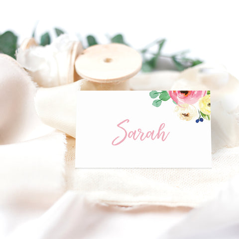 Spring wedding place cards - Paper Bliss