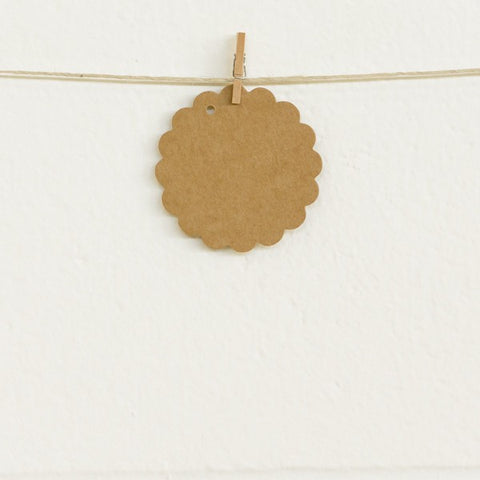 Scalloped Tags Kraft (20 pack)