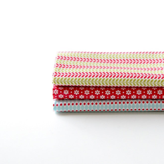 Quarter Fabric Pack (3 pieces) - Daily Christmas, by Dailylike