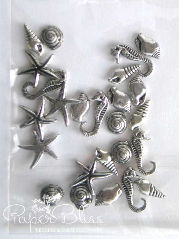 Silver Seaside Charms (25 pack)