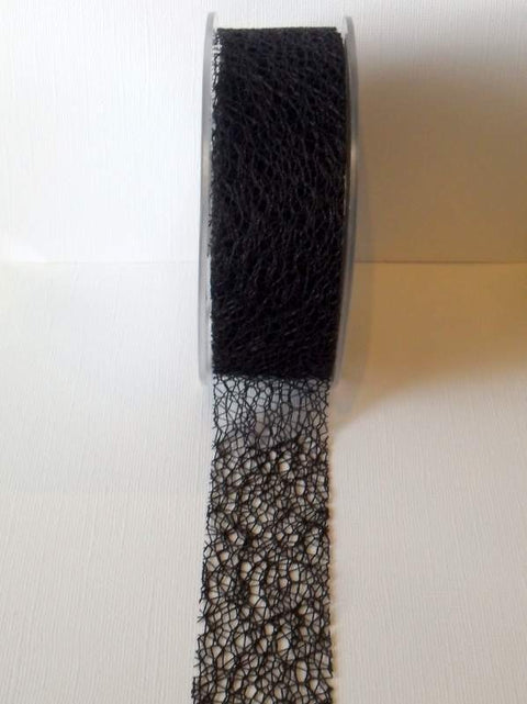 Mesh Ribbon, Black, 38mm
