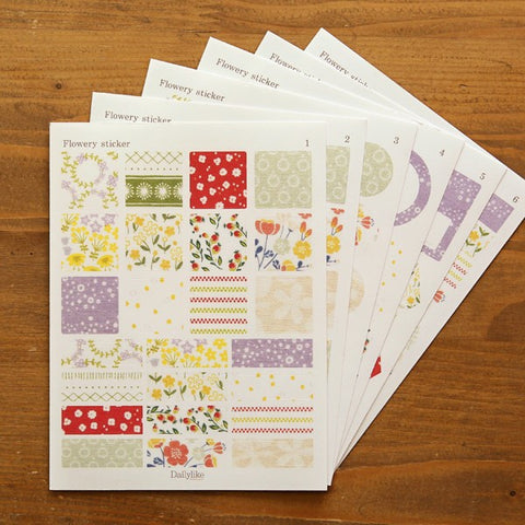 Sticker Set - Flowery, Dailylike