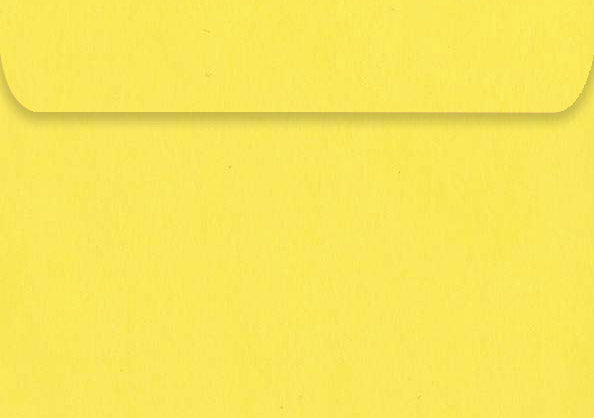 Kaskad Canary Yellow Envelopes (50 pack)