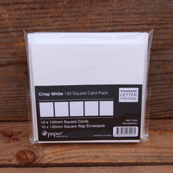 130x130 White Card & Envelopes (10 pack)