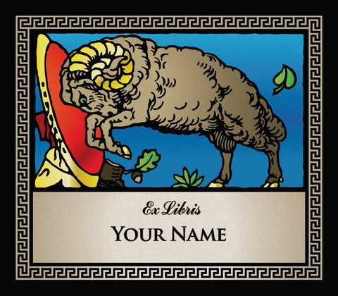 Aries the Ram • Ex Libris Your Name