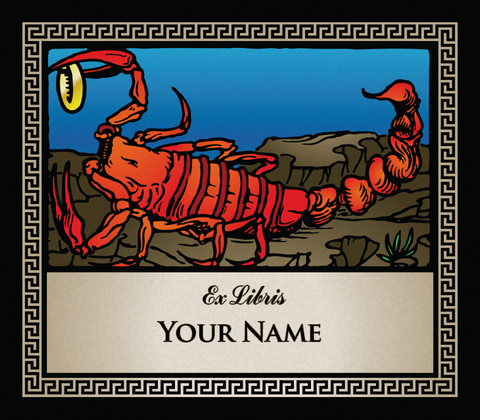 Scorpio the Socpion • Ex Libris Your Name