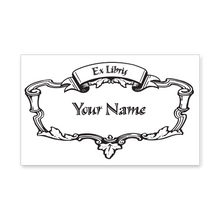 Scrolls & Leaves Bookplate • Ex Libris Your Name • White Paper