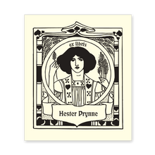 Woman with Wheat Bookplate • Ex Libris Hester Prynne • Natural Paper