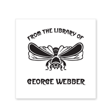 Displayed Bee Bookplate • From the library ofGeorge Webber • White Paper
