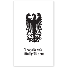 Displayed Falcon Bookplate • Leopold and Molly Bloom • No Border • White Paper