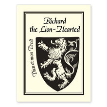 Rampant Lion Bookplate • The king of beasts Richard the Lion Hearted • Natural Paper