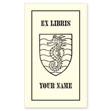 Hauriant Seahorse Bookplate • Ex Libris Your Name • Natural Paper
