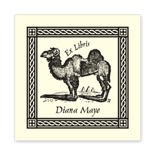 Bactrian Camel Bookplate • Ex Libris Diana Mayo • Natural Paper