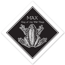Frog on Diamond Bookplate • MAX The Wildest of Things • White Paper