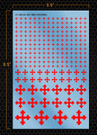 Red Crosses Decal