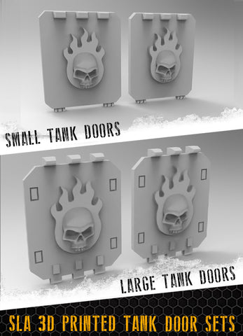 Flaming Skulls Tank Doors