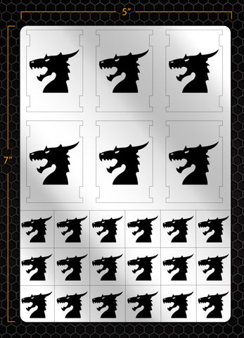 Space Dragons Stencil