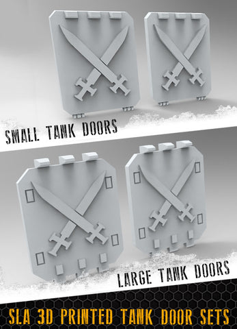 Crossed Swords Tank Doors
