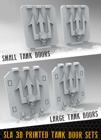 Skull Tridents Tank Doors