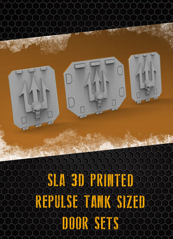 Skull Tridents Repulse Tank Doors