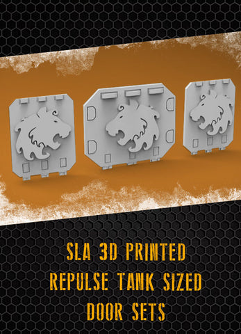 Lions Repulse Tank Doors