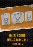 Metallic Skull Repulse Tank Doors